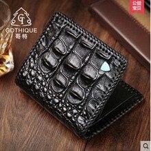 gete 2017 new hot free shipping Alligator wallets men  fashion wallet men business vertical man wallet man purse