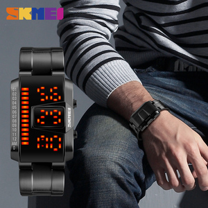 Image 3 - SKMEI אופנה Creative LED ספורט שעונים גברים למעלה יוקרה מותג 5ATM עמיד למים שעון דיגיטלי שעוני יד Relogio Masculino