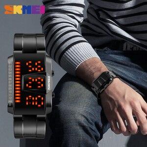 Image 3 - SKMEI moda kreatywny sport LED zegarki mężczyźni Top luksusowa marka 5ATM wodoodporny zegarek cyfrowe zegarki na rękę Relogio Masculino