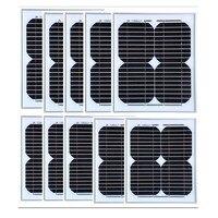 18 В 10 Вт Панели солнечные 10 шт. панно Solaire лампе 100 Вт Солнечный свет комплект solar Батарея Зарядное устройство Лодка автомобилей караван Кемпи