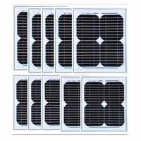 18v 10w Solar Panel 10Pcs Panneau Solaire Lampe 100w Solar Light Kit Solar Battery Charger Boat Car Caravan Camping Yachting