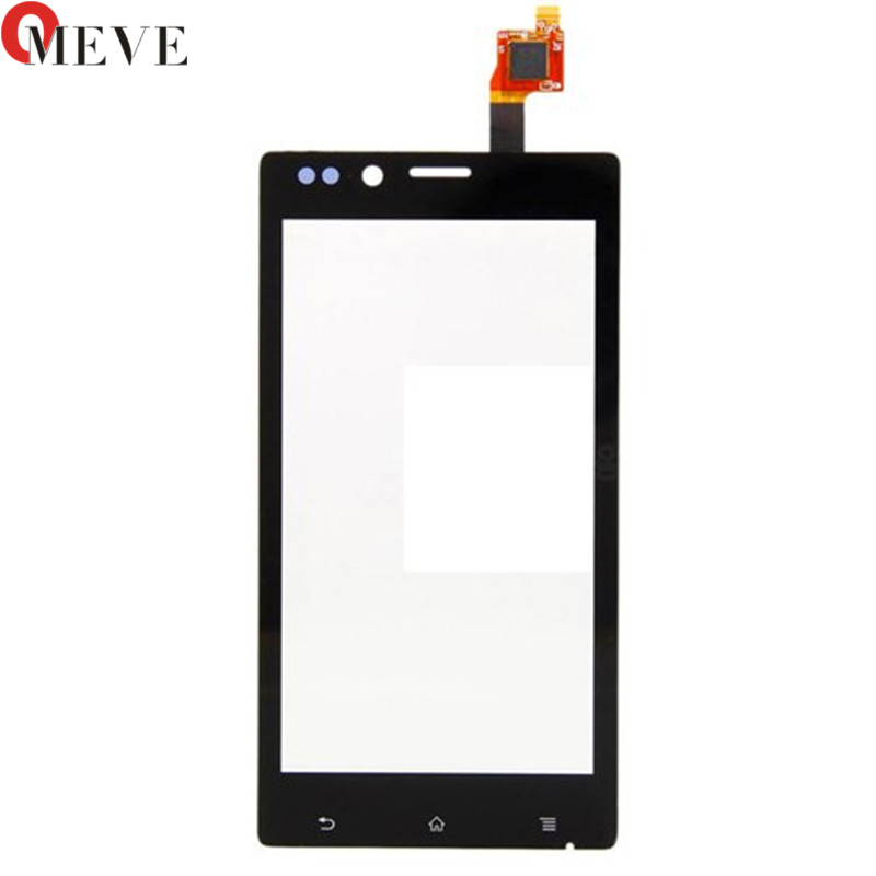 10PCS/LOT 4.0 Touch Panel For Sony Xperia J ST26i ST26 Touch Screen Digitizer Sensor Front Glass Lens Black Mobile Phone Parts