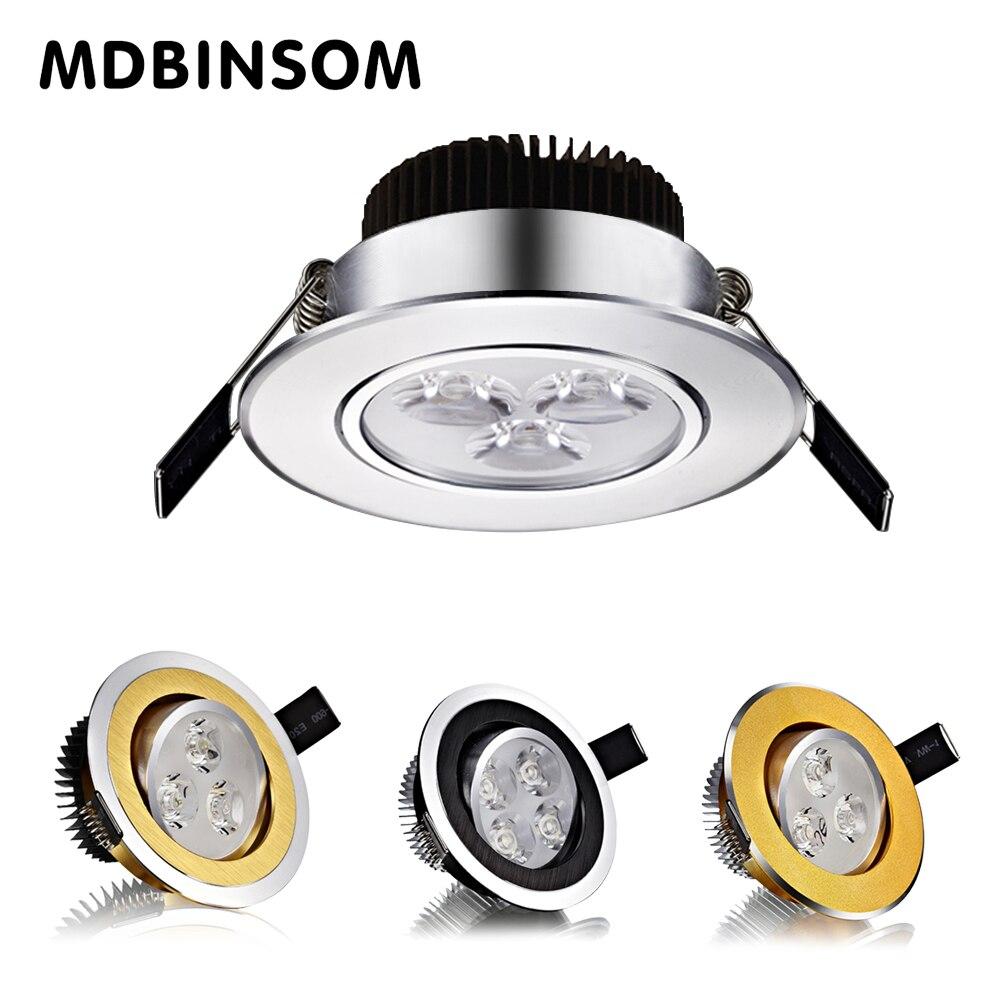 Потолок пятно лампы 3 Вт 5 Вт 7 Вт 9 Вт 12 Вт высокое Мощность светодиодные светильники AC110-240V Встраиваемые настенные светильники вниз светлая к...