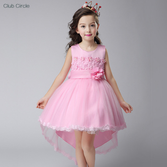 Ball Gown Flower Girls Dresses White Pink Purple Kids Evening Gowns ...