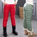 Muchachas del invierno Pantalones Pooh Embroma la Ropa Del Bebé Niños y Niñas Pantalones Casuales abajo de Algodón Mantener Caliente 3 T 4 T 5 T 6 T 7 T 8 T 9 T Pluma ps116