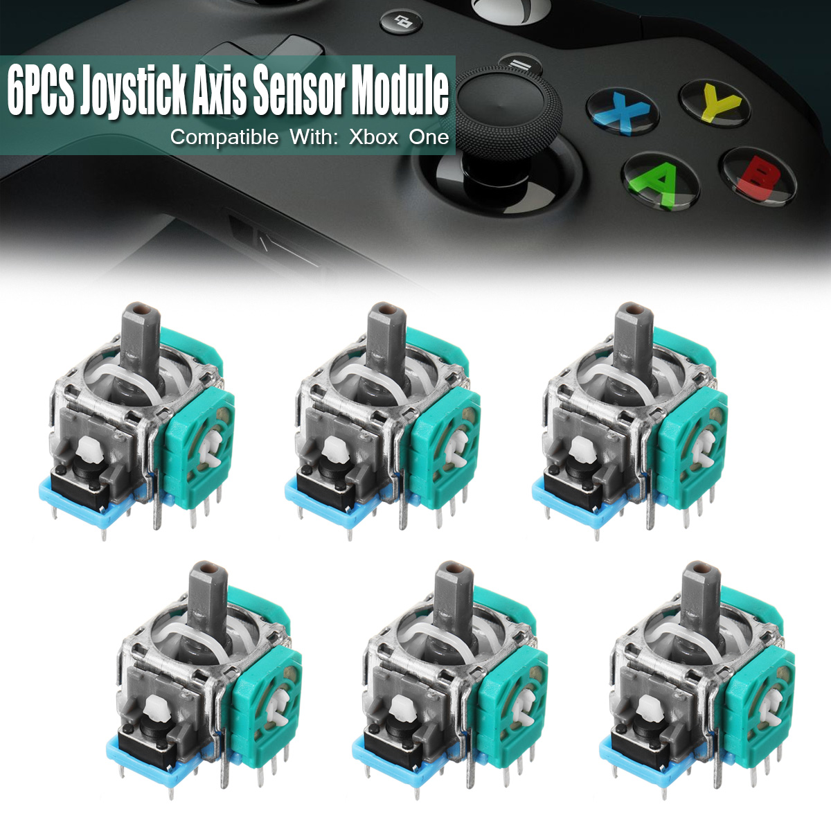 6Pcs 3D Controller Joystick Axis Sensor Module Replacement Analog For PS4 for Playstation Controller 3 Pins only Repair repair parts replacement laser drive module for ps4 black silver