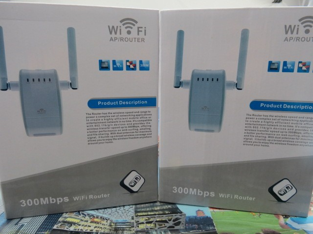 300Mbps Wifi Repeater Network Range Extender Booster Dual External Antenna WiFi Router