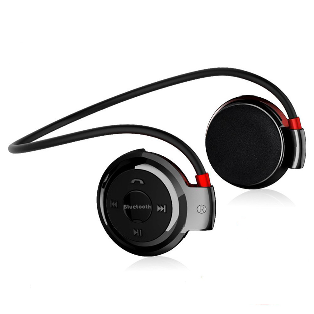 Wireless Earphone <font><b>Mini</b></font> Stereo Headphone Sports Ear Hook <font><b>Bluetooth</b></font> Headset MP3 Player Support Micro SD TF + FM Radio