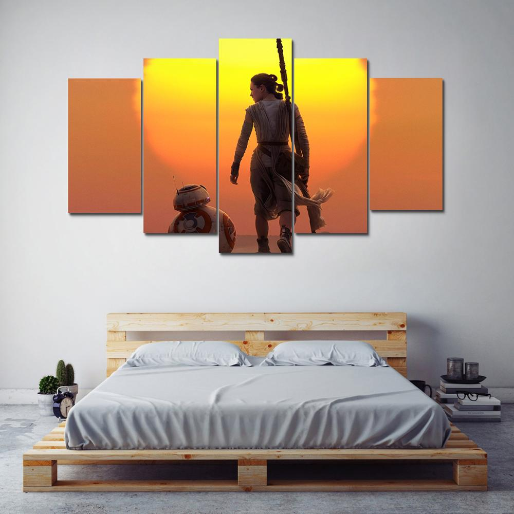 Aliexpress.com : Buy Modular Canvas Pictures Home Decor Living Room Wall  Art 5 Pieces Star Wars Episodes Paintings HD Prints Movie Poster Framework  From ...