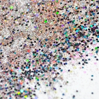 Holographic Nail Glitter Laser Silver Brown Mix Nails Powder Sequins For Gel Nail Art Decoration DIY