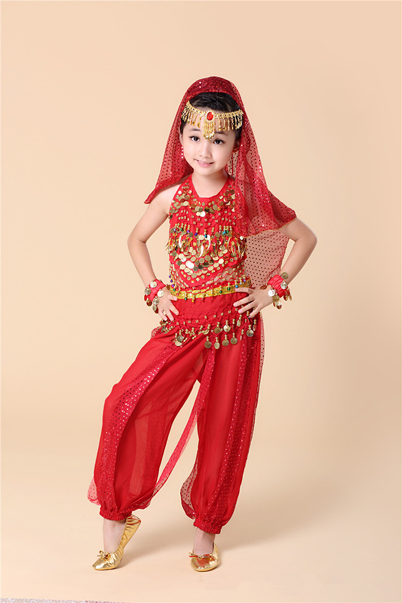 New fashion Kids Belly Dance Costume Child Indian Dancing Girl's ...
