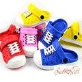 Hot nuevos niños zapatillas niños niñas shoes unisex niños niñas sandalias de playa jardín zuecos arrastre de color rosa-rojo envío gratis de $ number 7age nm-23