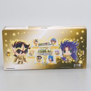Image 4 - 21 יח\סט אנימה Seiya דמות זהב ביצת תיבת PVC פעולה איור אבירי של גלגל המזלות צעצוע דגם Q מהדורה ילדים מתנה