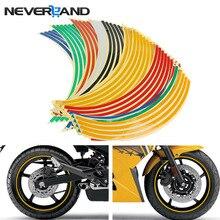 """1"""" Декор для мотоцикла, обода колеса, стикер, светоотражающий велосипед, Стайлинг автомобиля, мотоцикл, авто наклейки для Yamaha Suzuki Honda"""