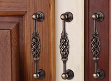 Birdcage Door Handle Antique Furniture Knobs and Handles for Kitchen Cabinets Vintage Closet Handle Drawer Pull