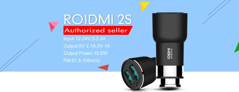 Xiaomi-ROIDMI-2S-5V-3-8A-Bluetooth-Handfree-Car-Charger-With-Music-Player-FM