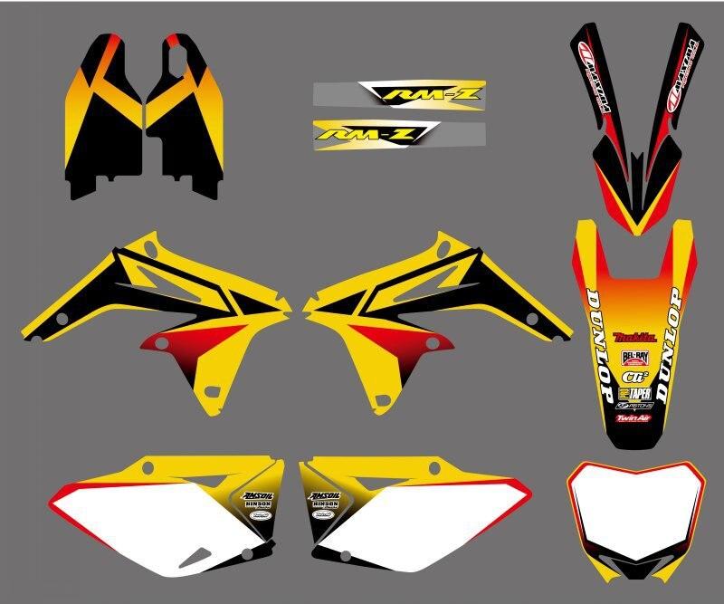 0147  NEW TEAM DECALS STICKERS GraphicS FOR Suzuki RMZ450 RMZ 450 2008 2009 2010 2011 2012 RM-Z 450