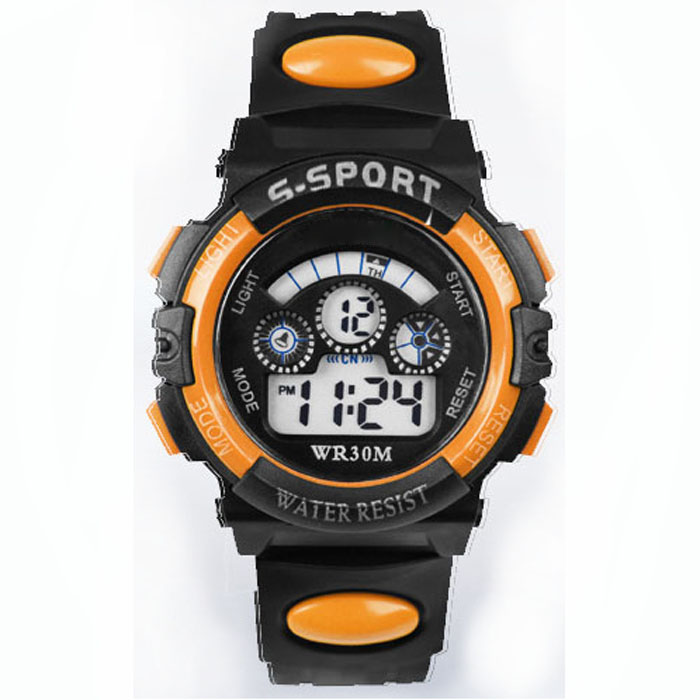 NY Bäst Kvalitet Vattentät Barn Pojke Digital LED Quartz Larm Datum Sport Wrist Men Women Watch Perfekt Present Dec30 H0