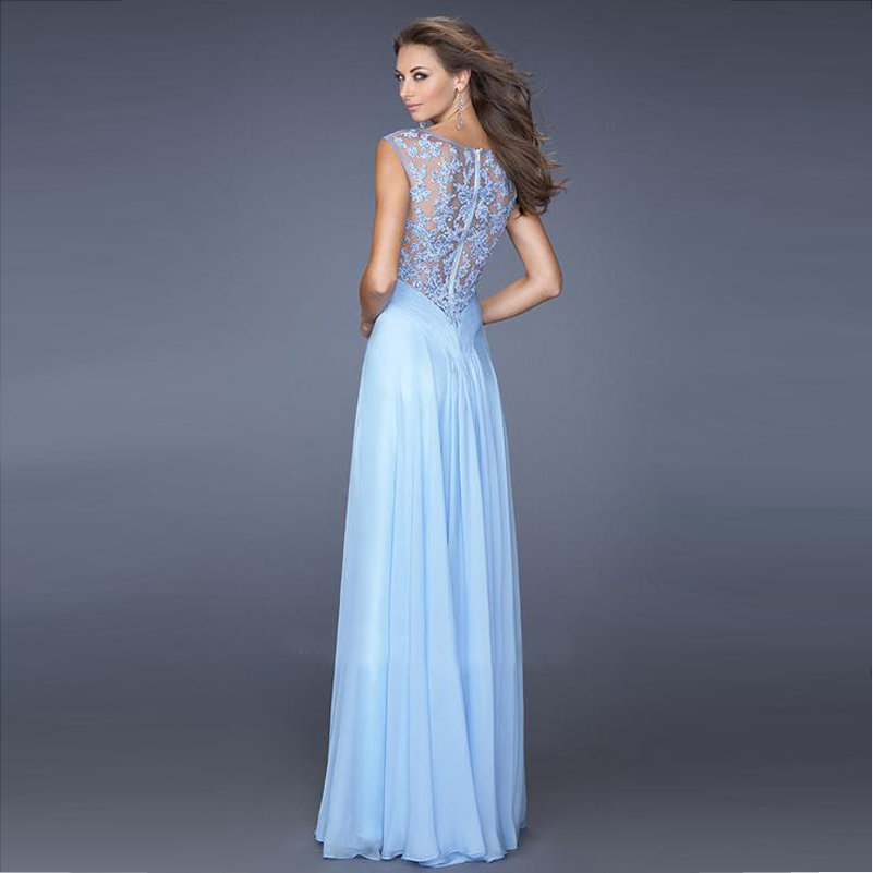 Aliexpress.com : Buy Vnaix EV030 Light Blue Evening Gown Long ...