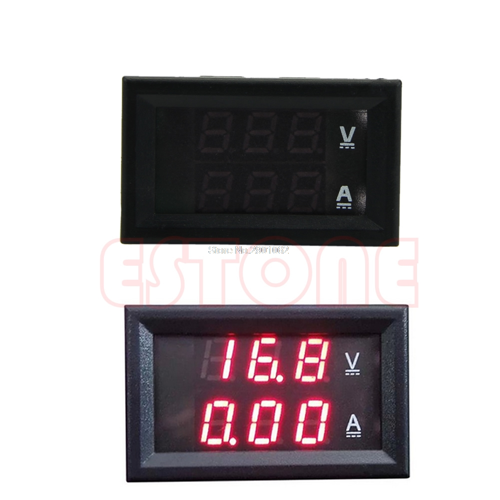 <font><b>DC</b></font> <font><b>100V</b></font> <font><b>50A</b></font> Dual Digital <font><b>Voltmeter</b></font> <font><b>Ammeter</b></font> Red LED Amp Volt Meter+Current Shunt -B119 image