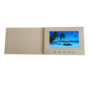 Image 5 - 7 אינץ מסך 8 GB חוברת אוניברסלי וידאו ברכה כרטיסי אופנה עיצוב וידאו פרסום כרטיסי צפייה חוברת (hyh 3070)