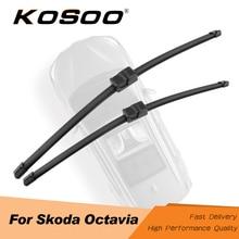 KOSOO для Skoda Octavia MK1 MK2 MK3 A5 A7 Fit Кнопочный/боковой штырь/J крюк ручки модель год от 2000 до Авто щетки стеклоочистителя
