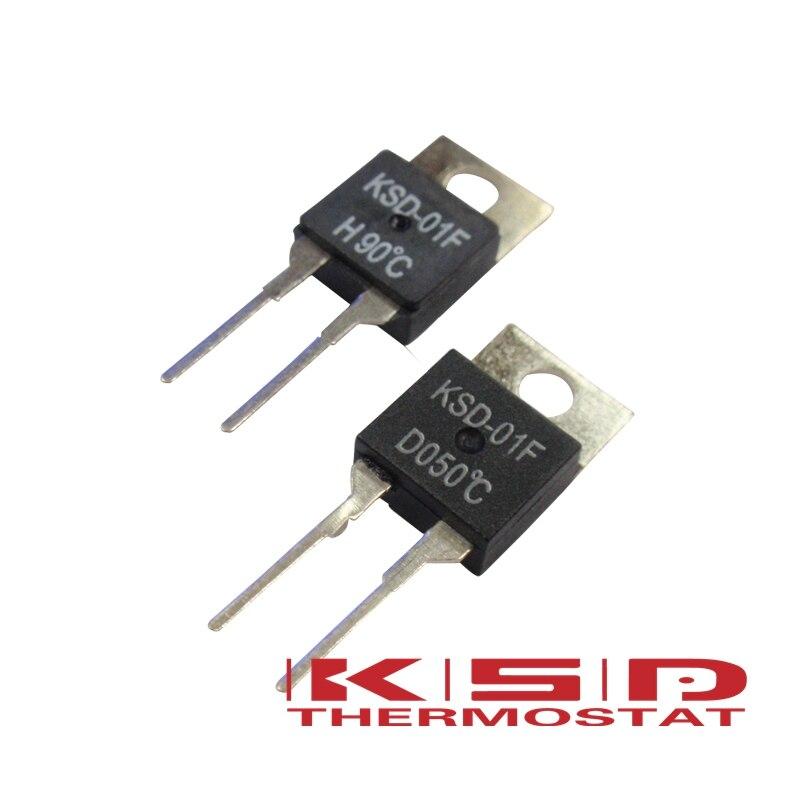 Sourcing map KSD-01F Thermostat de contr/ôle de temp/érature N.C Fermeture normale 2 pi/èces 40 Degree