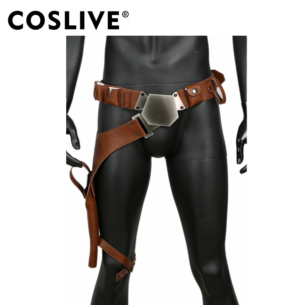 Coslive Updated Star Wars Han Solo Belt with Gun Holster Costume Props Cosplay Accessories Han Solo Belt For Halloween Party