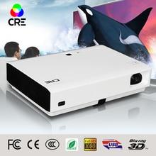 Alto Brillo 3000 lúmenes DLP de tiro corto proyector wifi 3d smart tv proyector 3led/Short Throw Digital Wifi Androide Inteligente proyector