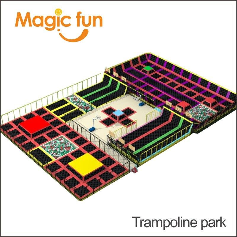Aire de jeux intérieure multifonctionnelle exquise de parc de Trampoline d'amusement magique, équipement d'intérieur de terrain de jeu d'enfants de qualité supérieure
