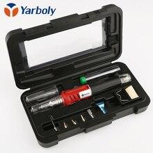 Zelfontbranding 10 In 1 Gas Soldeerbout Cordless Lassnijbrander Kit Tool HS 1115K Top Kwaliteit Ontsteking butaan Gas Soldeerbout