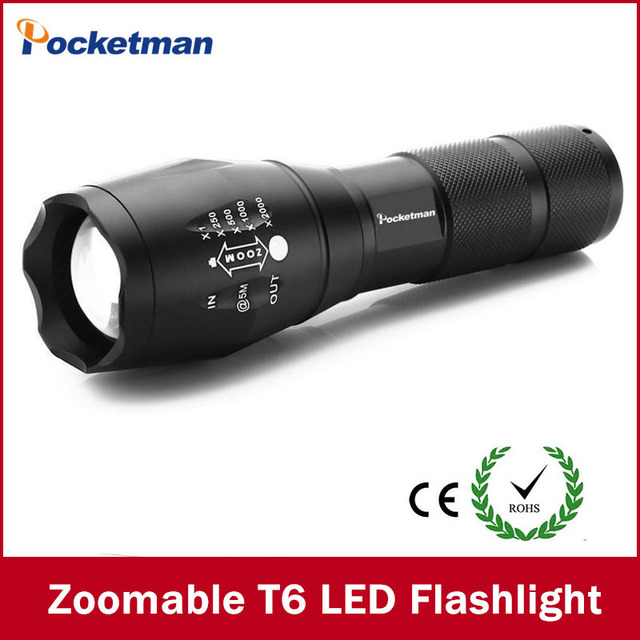 LED Flashlight 3800 Lumnes CREE XM-L T6 LED Tactical Flashlight Torch Zoomable Flashlight Torch Lanternas Gladiator Flashlight