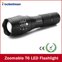 LED Flashlight 3800 Lumnes CREE XM L T6 LED Tactical Flashlight Torch Zoomable Flashlight Torch Lanternas