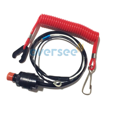 Free Shipping Boat Motor Kill Stop Switch & Safety Lanyard for Parsun Yamaha Honda Tohatsu outboard motor parts ,6E9-82575-09 outboard engine c d i boat motor cdi unit assy f15 07000500 for parsun 4 stroke f9 9 f13 5 f15 free shipping