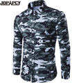 Jopapcy Army Autumn Camouflage Men Shirts Casual Business Turn-down Collar Male Blouse Cotton Camisa Masculina MXB0331