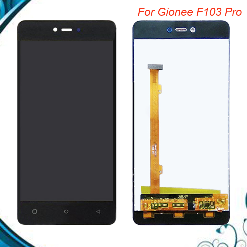 100% Tested OK For <font><b>Gionee</b></font> <font><b>F103</b></font> <font><b>pro</b></font> LCD Display + Touch Screen Digitizer Assembly Replacement Black White Gold Color IN Stock image