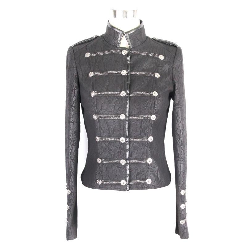 Devil Fashion Punk Vintage Military Jacken Frauen 2019 Schwarz - Damenbekleidung - Foto 4