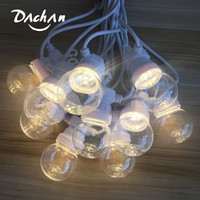 Super Bright 13M 20 Bulbs Festoon Lights String IP65 LED Christmas Patio White Fairy Light For Outdoor Wedding Party Decoration