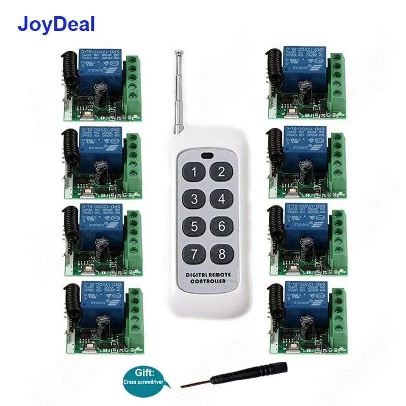 Interrupteur de commande à distance sans fil, Module de relais récepteur et émetteur 433 Mhz, verrouillage électronique, DC 12V, 1ch RF, 433 Mhz