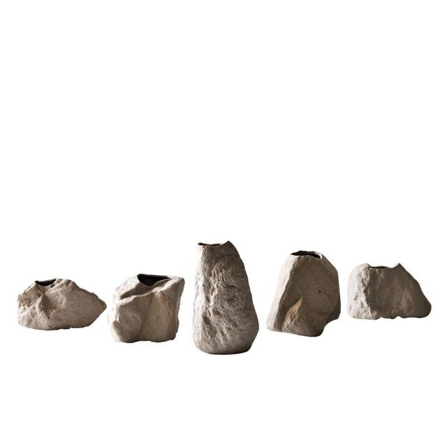 New ceramic modern Vase home decor fashion floral organ master bedroom creative ceramic  stone vase ornaments wedding gift 5