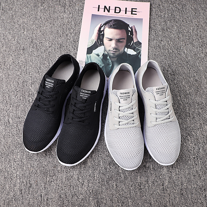 De Negro La Hombres Sudor Encaje Casuales gris Hombre Marca Verano Transpirable Comfort Moda Zapatos Absorbente 28 Ligero Calzado Nueva 67 Tamaño HIwPfP