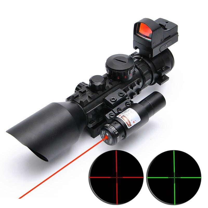 PIC 3-10x42 optique tactique lunettes de visée avec rouge laser sight et reflex sight pour la chasse air soft gun