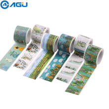 AAGU 2017 Hot Sale 1PC 30MM Wide Cartoon Washi Tape Adhesive DIY Craft Masking Scrabook Notebook Decoration Paper