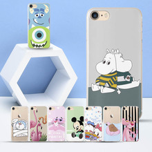 Cute Dinosaur Doraemon Duck Soft silicone TPU for Coque iPhone 5 5S SE case Mouse Pink Cat case for Funda iPhone  5 5S SE cases