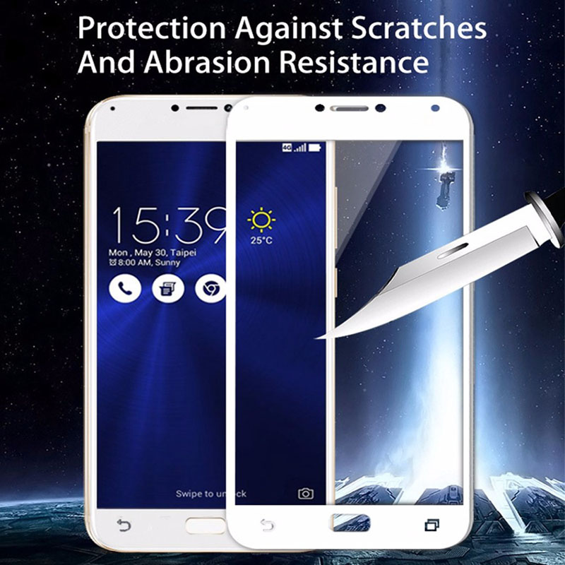 Image 5 - protective glass For Asus Zenfone 4 Max ZC554KL Tempered Screen Protector Film For Asus Zenfone 4 3 Max  Zc520TL ZC553KL ZC520KL-in Phone Screen Protectors from Cellphones & Telecommunications