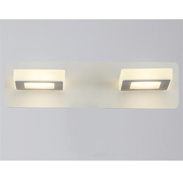 Bathroom Light Fixtures Led 10w Acrylic Cube Bath Wall Sconces Neutral