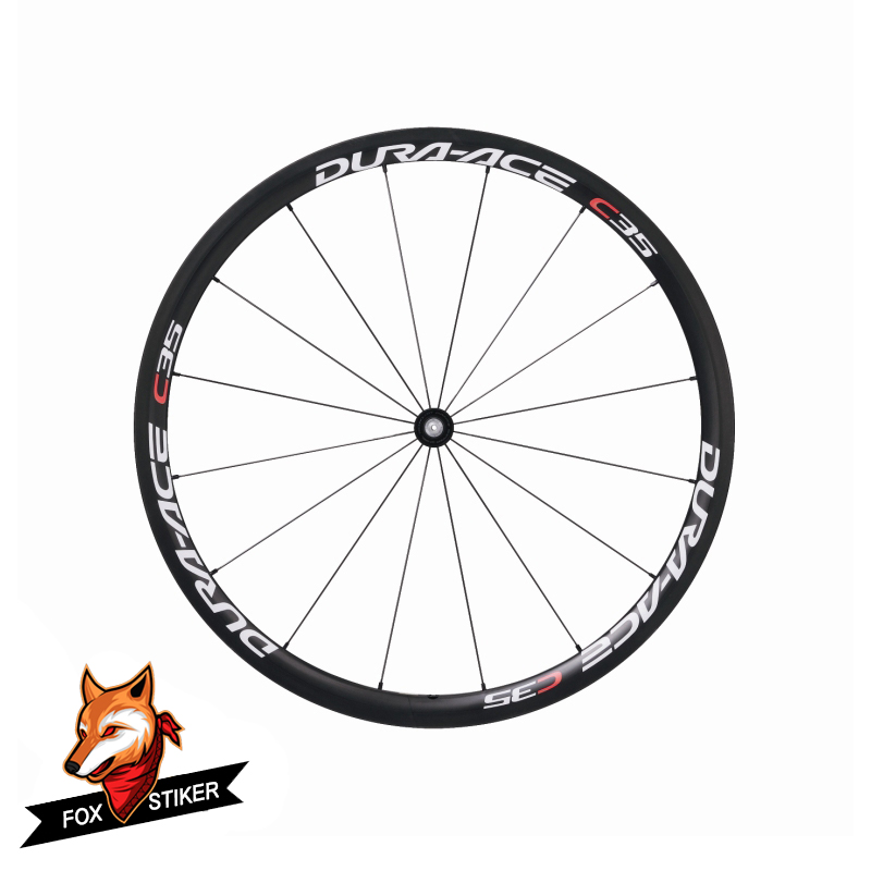 COSMIC Rim Carbon Wheel Decals Sticker Road Bike Reflective Set of 12 Stickers