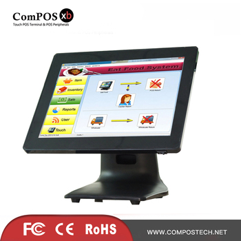 15 inch black touch pos machine pos all in one pure screen cash register