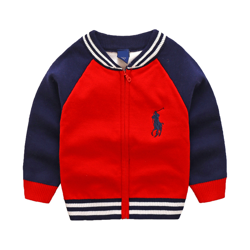 9ba86555797c Boys Sweatershirt Autumn 2018 Winter Brand Zipper Sweater Coat Jacket For  Toddle Baby Boy Sweater 2 3 4 5 6 7 Year boys Clothes