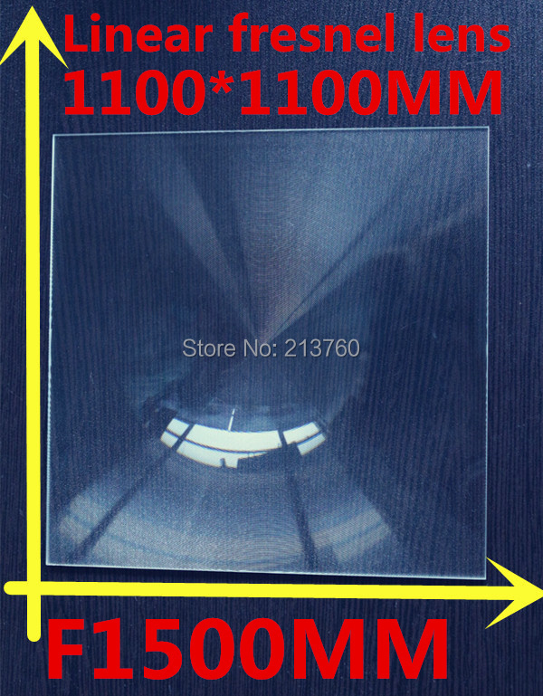 Big linear Fresnel lens Square Lens 1100*1100 mm Fresnel Lens Focal length 1500mm solar collecting 2pcs 150mm big optical pmma plastic round solar condensing compound eye fresnel lens improving brightness of light focal length